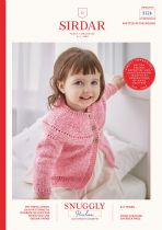 Sirdar Snuggly Heirloom DK Knitting Pattern Booklet - 5326 Yoked Cardigan